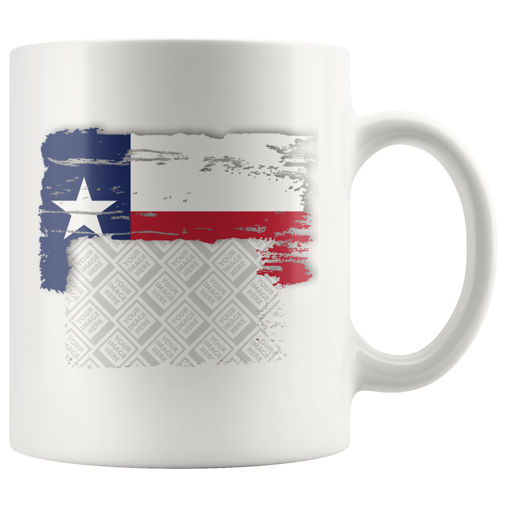 Texas Flag Custom Personalized Mug, 11 oz.