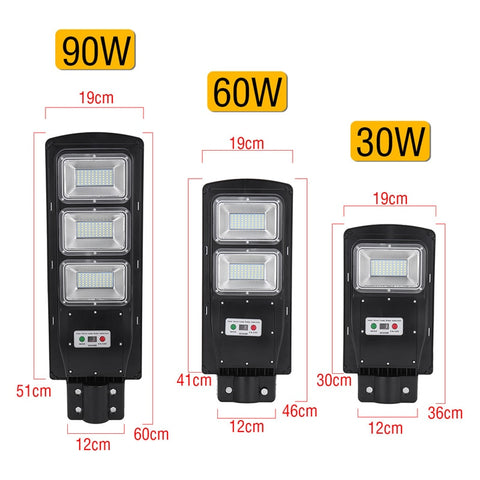 Waterproof Solar LED Motion Street Light + Remote Control