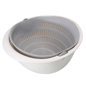 Double Layer Rotating Draining Basket