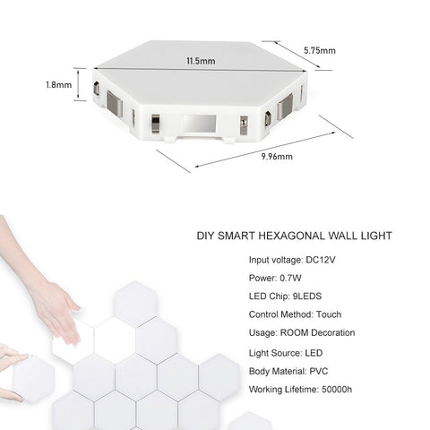 Image of Hexagonal Touch Lights