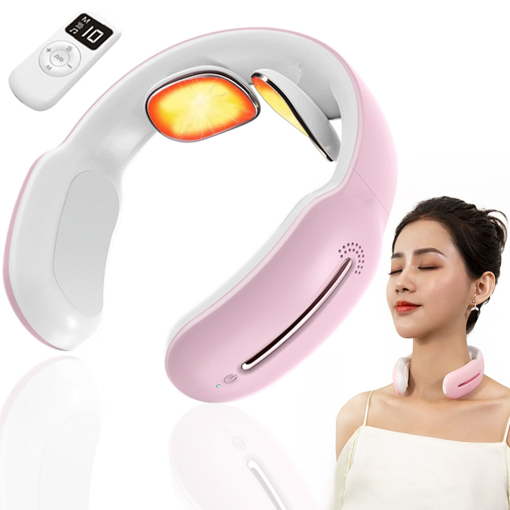 Smart Electric Massager for Neck and Shoulder Low Frequency Magnetic Therapy Pulse Pain Relief Relaxation Vertebra Physiotherapy
