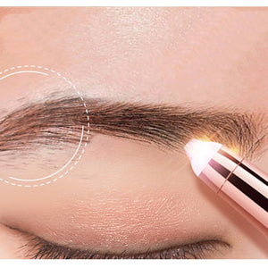 New Design Electric Eyebrow Trimmer Makeup Painless Eye Brow Epilator Mini Shaver Razors Portable Facial Hair Remover for Women