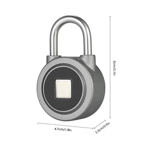 Smart Keyless Lock water resistant APP Button Password Unlock anti-fraud Padlock - GEMS Express L.L.C.