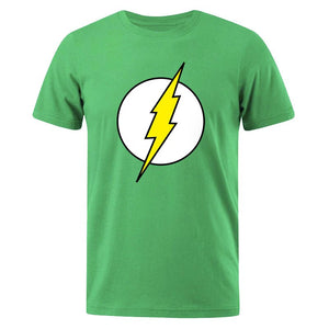 The BIG BANG Theory T-SHIRT The lightning Print The Flash Men T Shirts Hot Sale Casual Tee Shirt Cotton Clothing Plus Size 3XL - GEMS Express L.L.C.