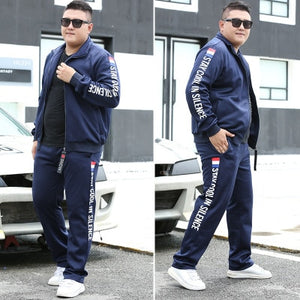 M-9XL Large Size Tracksuit Set Men 2 Piece Sets Sweatsuit Sporting Fitness Sets - GEMS Express L.L.C.