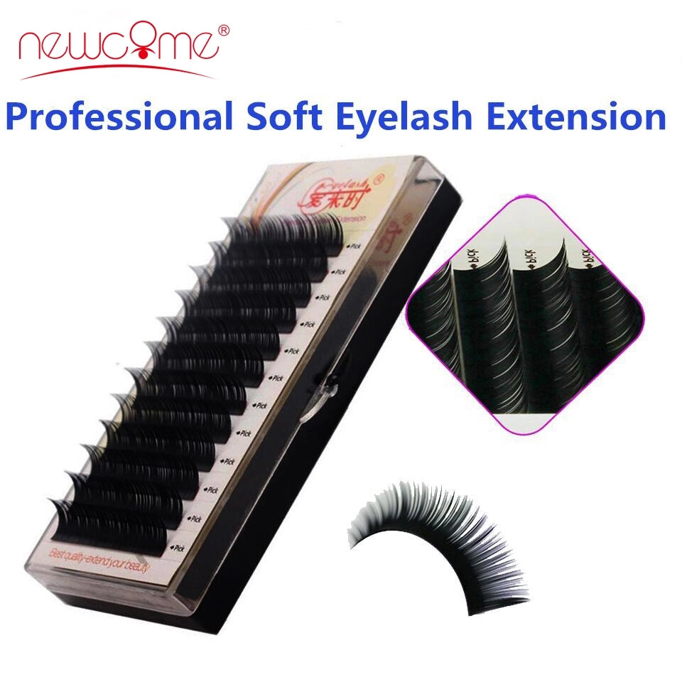 Eyelashes Extension Individual Silk Volume Faux Mink Lash Extension Premium Handmade
