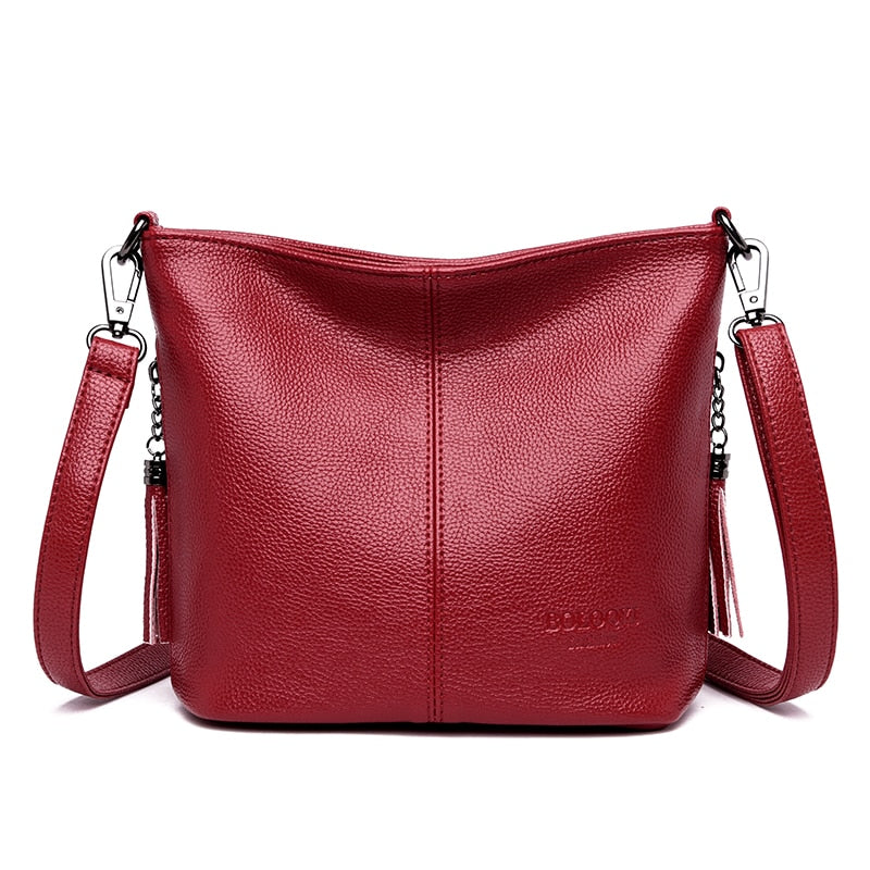 Women Leather Bags Ladies Luxury Shoulder Bags Women's Handbag Female Messenger Bag Fashion Crossbody Bags for Women Bolsas Sac - GEMS Express L.L.C.