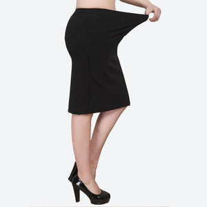 XL-8XL Plus Size Women Summer Skirts Casual Black Large Size Office Ladies Work Skirt Faldas 6XL 7XL Stretch OL Skirt Clothings - GEMS Express L.L.C.