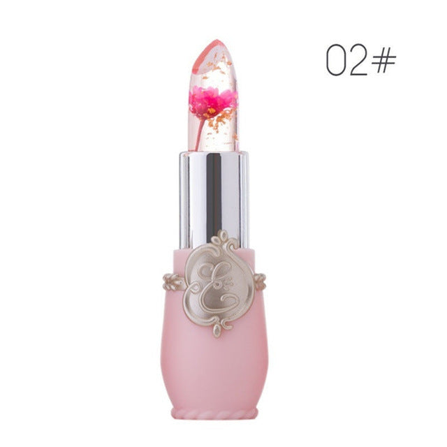 Moisturizer Lip Gloss Transparent Jelly Flower Lipstick Temperature Color Change Waterproof Makeup Lip balm Cosmetic Makeup Tool