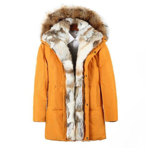 PYJTRL Young Men's And Women's Medium Long Lovers Down Jacket - GEMS Express L.L.C.