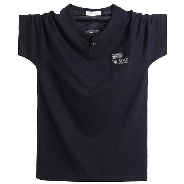 Plus Size 5XL 6XL Men Big Tall T-shirt Short Sleeves Oversized T Shirt Cotton Male Large Tee Summer Fit T Shirt Summer Tops Tees - GEMS Express L.L.C.