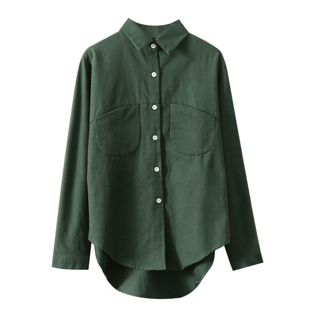 2021 Spring Women Summer Blouse Korean Long Sleeve Womens Tops And Blouses Vintage Women Shirts Blusas Roupa Feminina Tops