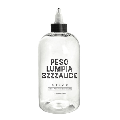 16 0Z. BOTTLE SPICY OR MILD PESO LUMPIA SIZZZAUCE(SQUEEZE BOTTLE) (LOCAL DELIVERY / FREE PICK UP AVAILABLE)