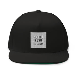 Petite Peso Los Angeles Black Flat Bill Cap