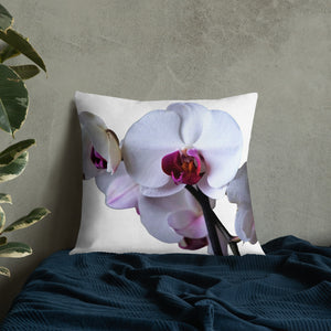 "Orchid Lover Throw Pillow 22"" x 22"", Premium All-Over Print Custom Pillow, Pillow for Orchid Lover, Home Decor, Mom Life Mugs"
