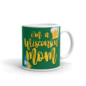 WI Mom Mug, #Wisconsin Mom Cup, Mug with Wisconsin, Funny Coffee Mugs for Mom with Saying, Gift for Wisco Mom, Packers Lover, Mom Life Mugs