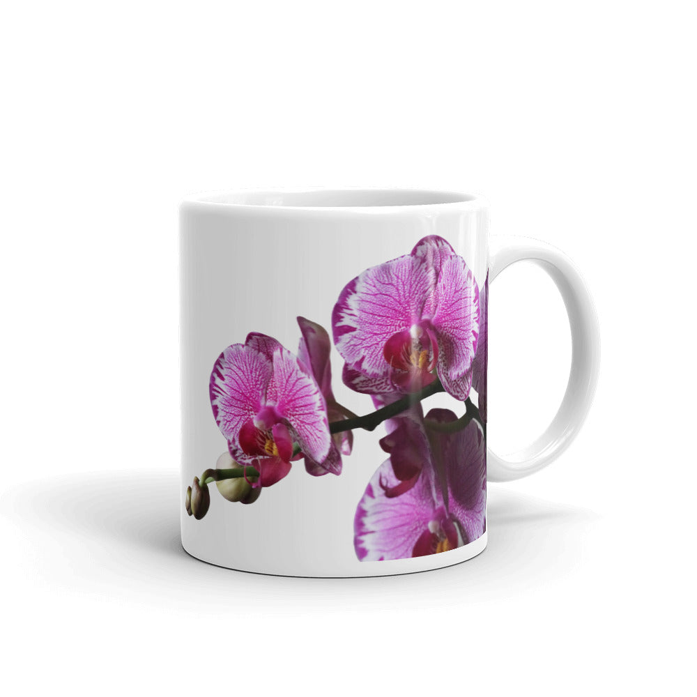 Orchid Obsessed Mug, Orchid Lover Gift, Premium All-Over Custom Mug for Lover of Orchids and Purple Flowers, Gifts for Mom, Mom Life Mugs