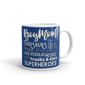 Dark Blue Boy Mom Mug, Funny Coffee Mugs for Women, Gifts for Mom from Daughter, Mom Life Mugs, Boy Mom Life, #MomLife Gifts