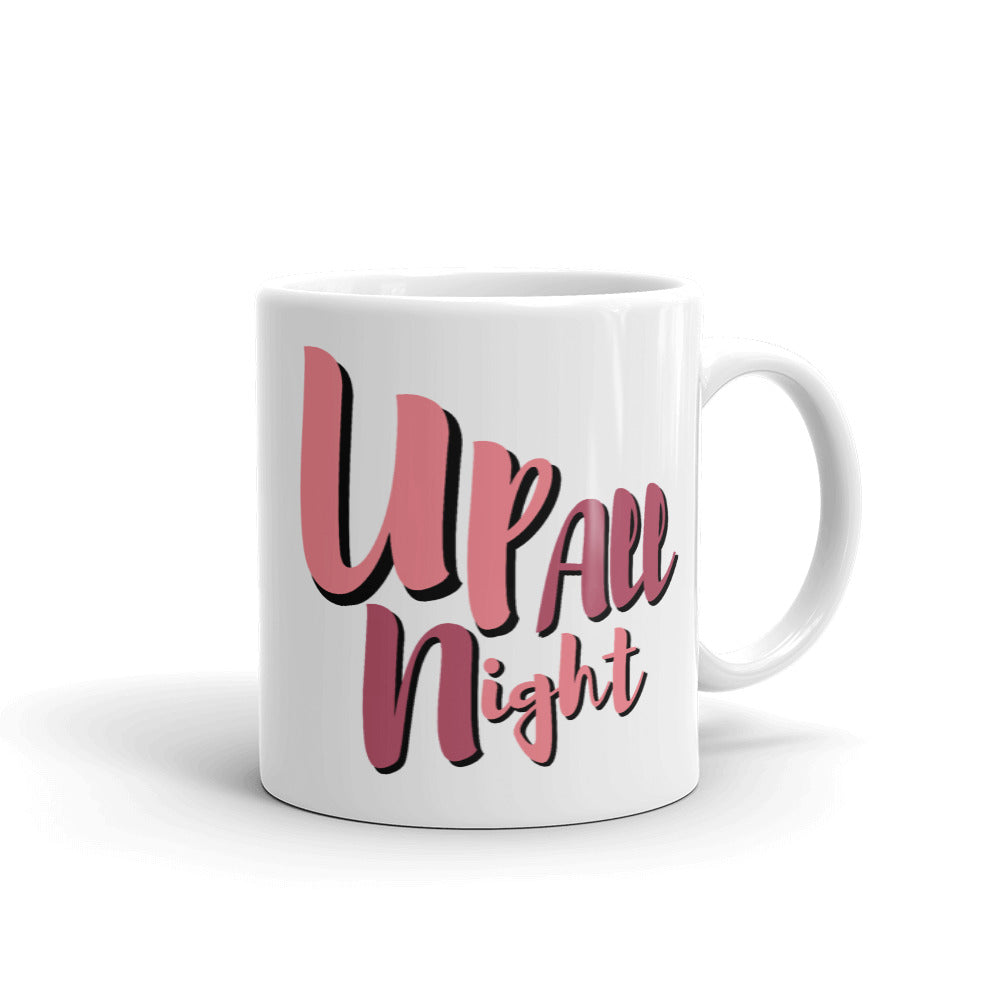 Up All Night Mug, Tired #MomLife Ceramic Coffee Mug, Gifts for Mom, Mother Cup, Mom Boss