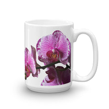Load image into Gallery viewer, Mug with Orchid Blooms Purple, Orchid Obsessed, Orchid Gift, Premium All-Over Custom Mug for Orchids Fanatic, Mom Life Mugs