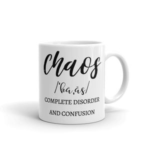 Let The Chaos Begin Double-Sided Mug, Funny Coffee Mugs for Women, Gifts for Mom from Daughter, Mom Life Mugs, #MomLife Mugs for Mom