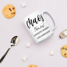 Load image into Gallery viewer, Certified Chaos Manager Mug, Let The Chaos Begin Cup, Chaos Definition Mom Mug, Mom Life Mugs, #MomLife Mugs for Mom, Gifts for Mom