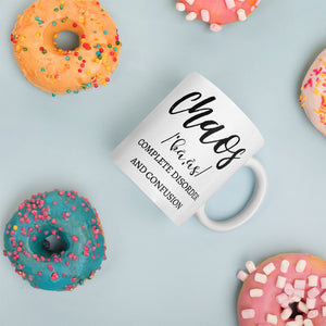 Certified Chaos Manager Mug, Let The Chaos Begin Cup, Chaos Definition Mom Mug, Mom Life Mugs, #MomLife Mugs for Mom, Gifts for Mom