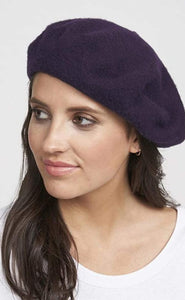 100% Wool Beret, SUGAR PLUM (PURPLE)