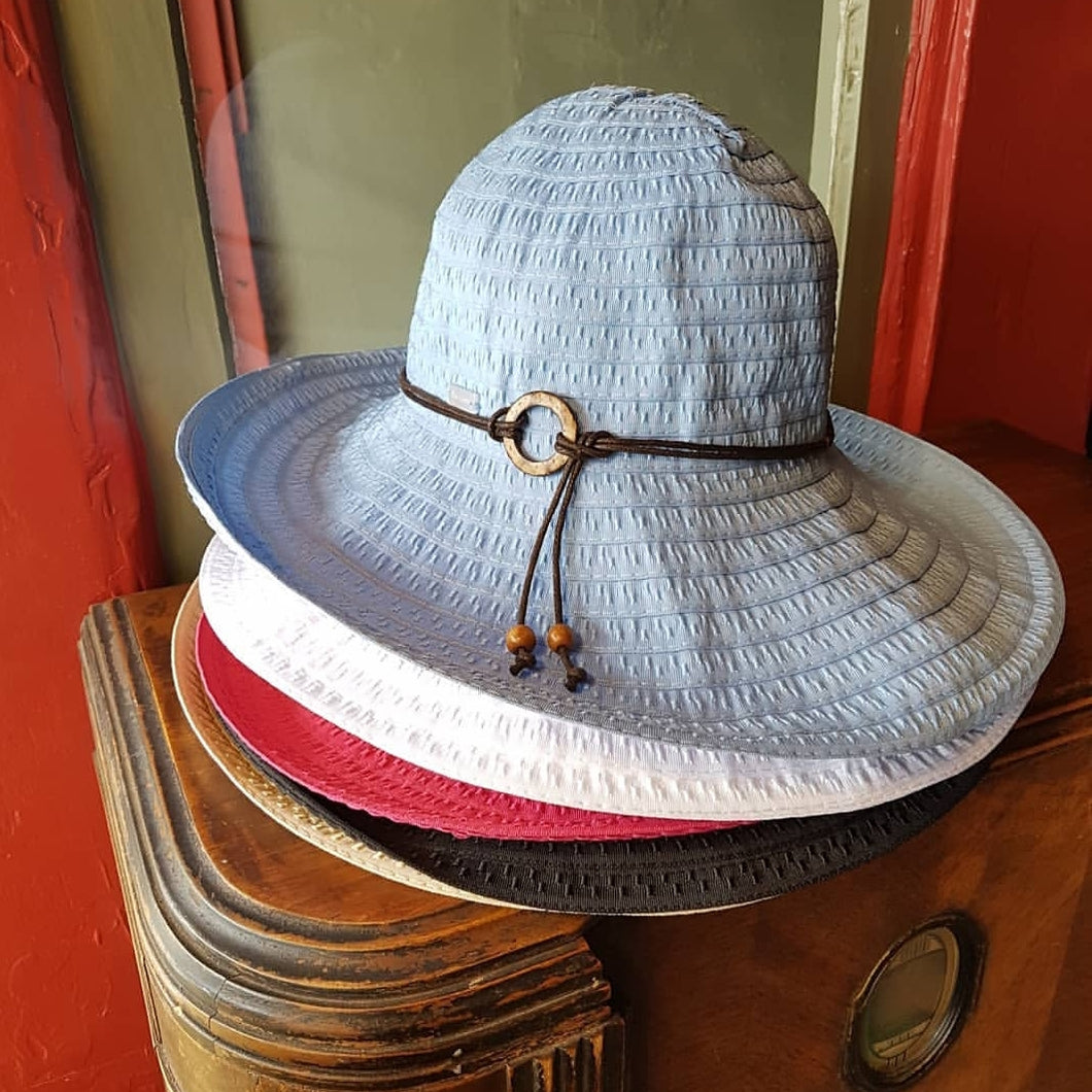 Wide Brim Ribbon Sunhat