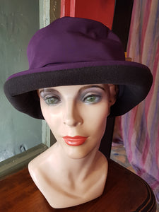 Lillie & Cohoe Stormy Rain Hat, PURPLE