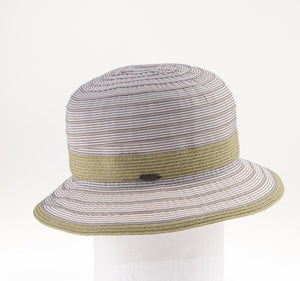 Lightweight Ribbon Bucket/Cloche Hat