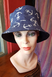 Cotton Bucket Hat, ANCHORS DENIM