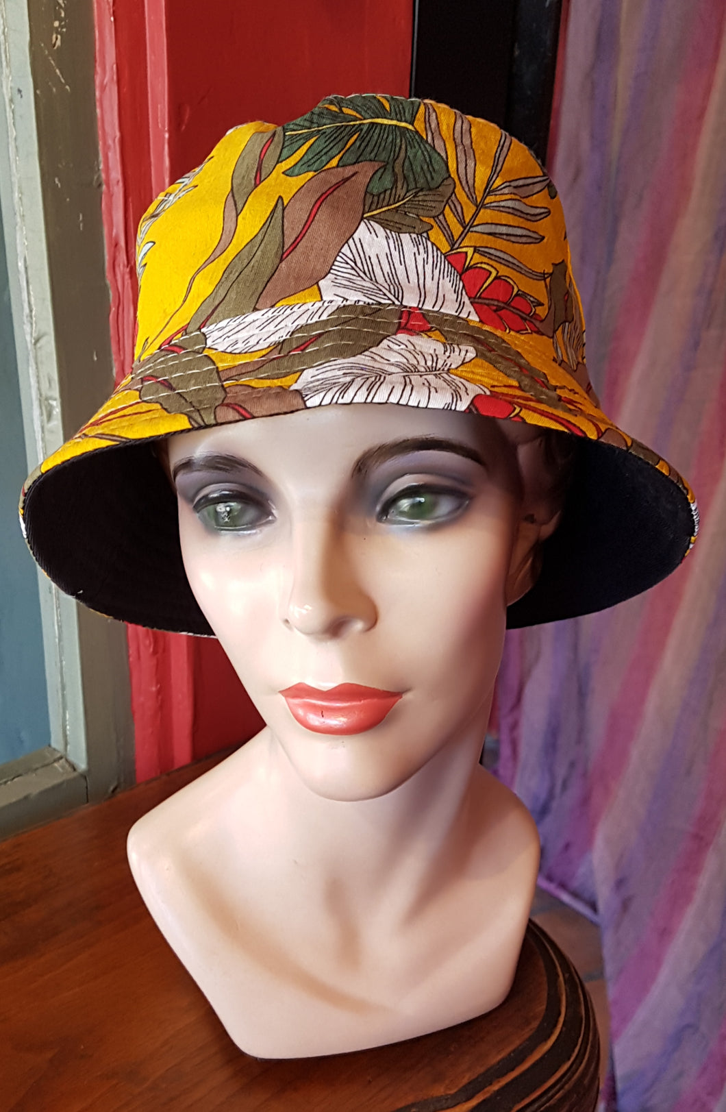 Cotton Bucket Hat, BOTANICAL YELLOW