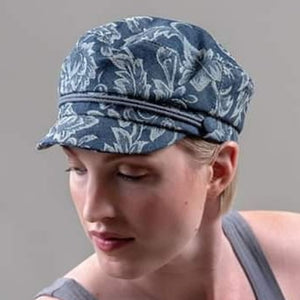 "Lillie and Cohoe Floral denim ""Perry"" cap"