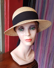 "Load image into Gallery viewer, Raffia ""Scoop"" Sunhat (Face Saver)"