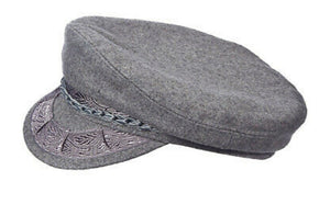 Wool Greek Fisherman Cap,  GREY