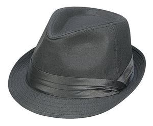 Lightweight Fabric Fedora, BLACK