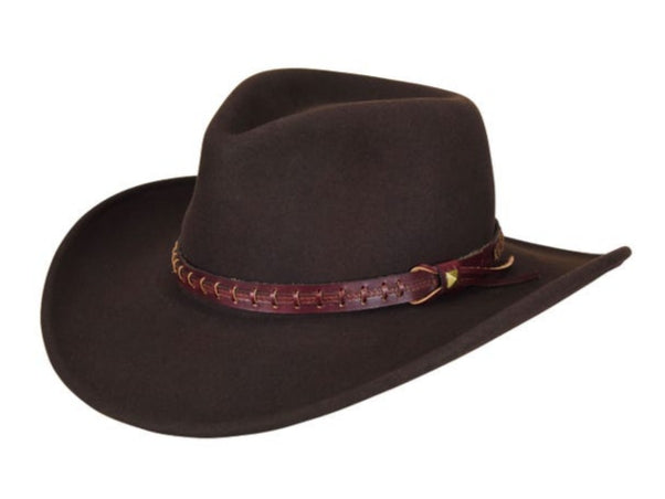 FIREHOLE, Outback style fedora, BROWN