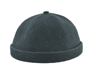 Wool Melton Beanie, BLACK