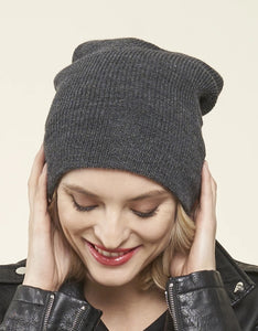 100% Merino Wool Toque, GREY