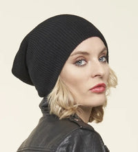 Load image into Gallery viewer, 100% Merino Wool Toque, BLACK