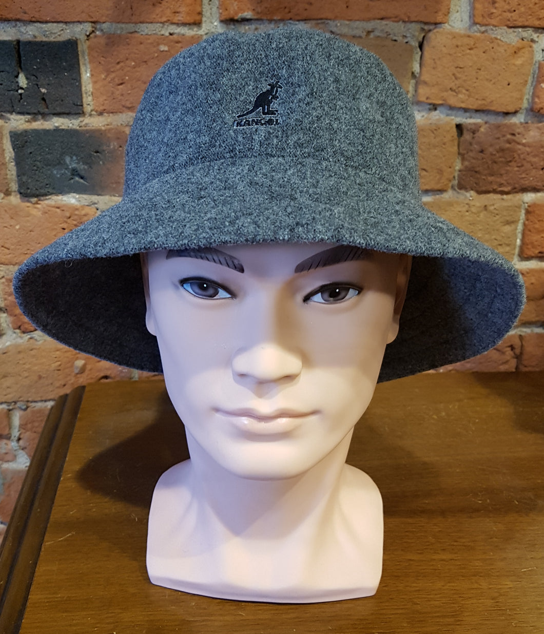 Kangol Wool Lahinch Bucket, GREY