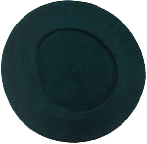 100% Wool Beret, DARK GREEN
