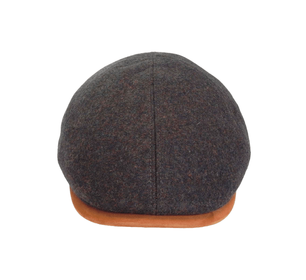 Italian Made 100% Wool Cap, BROWN