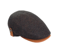 Load image into Gallery viewer, Italian Made 100% Wool Cap, BROWN