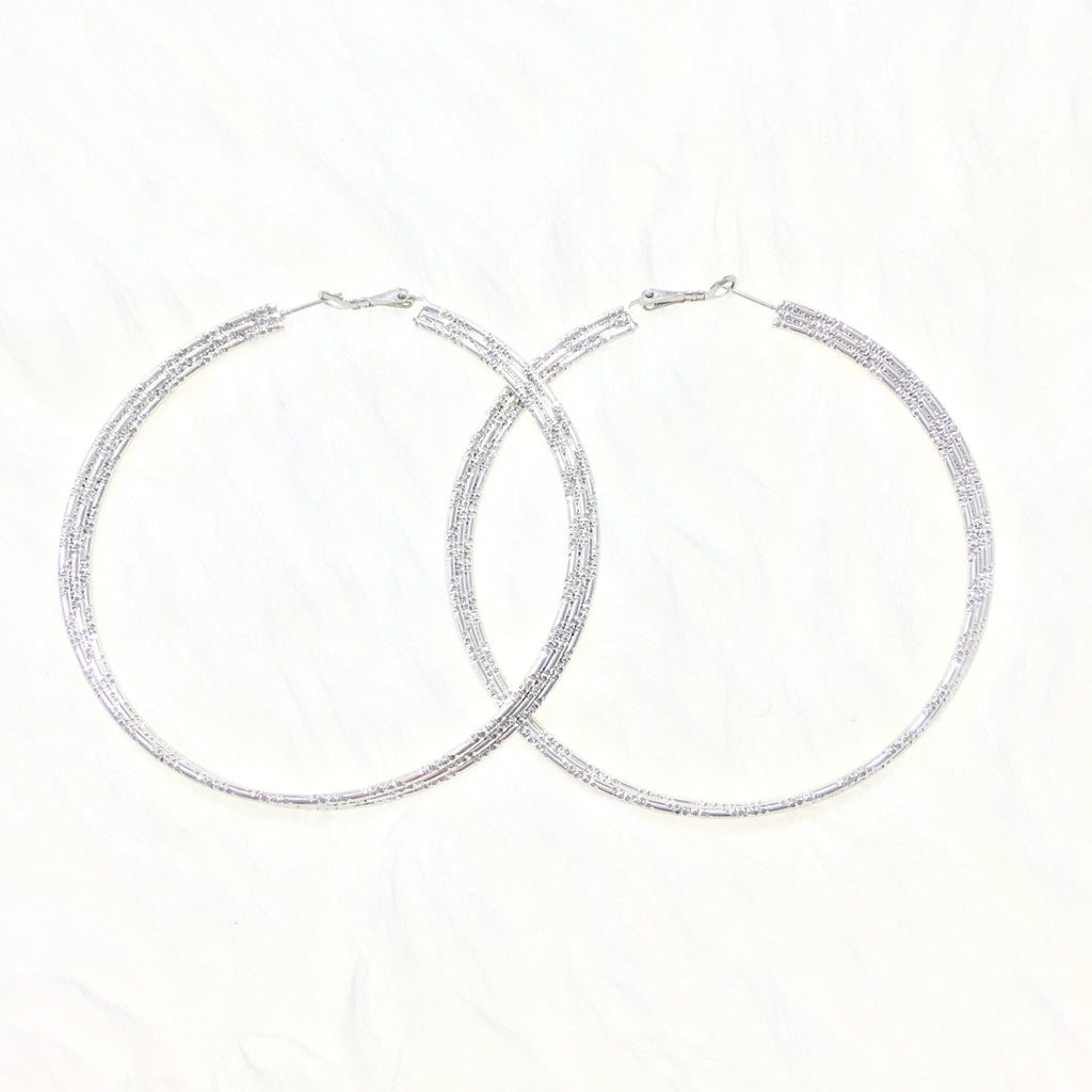 Iris Silver Hoop Earrings - So Enticing