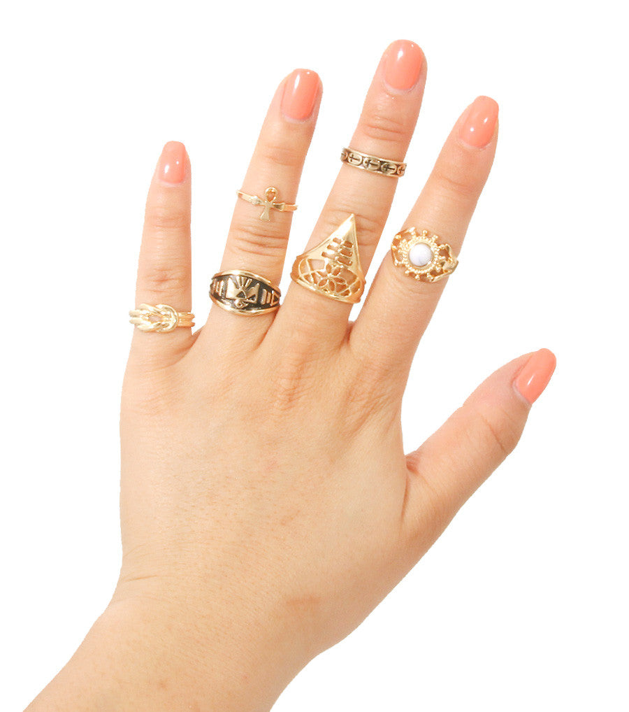 Lacey Midi Ring Set - So Enticing