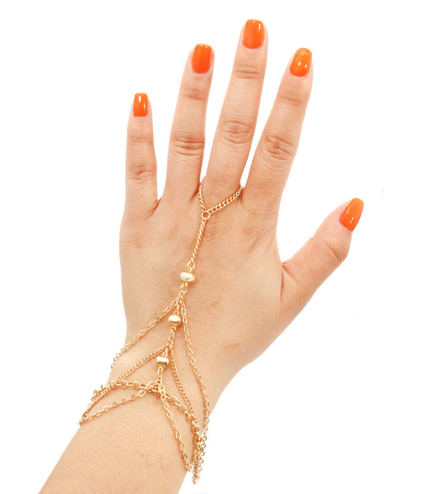 Liana Gold Cuff Hand Chain - So Enticing