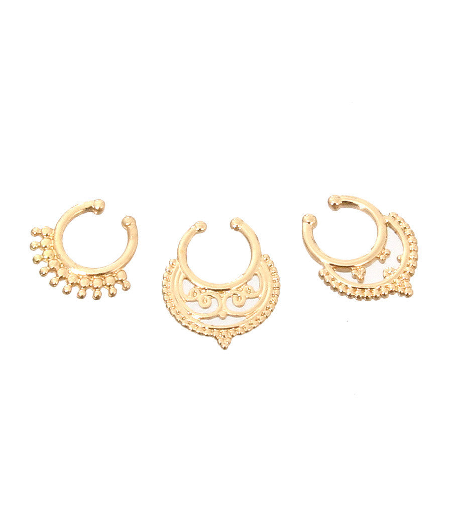 Cassia Septum Nose Ring Mixed Set - So Enticing