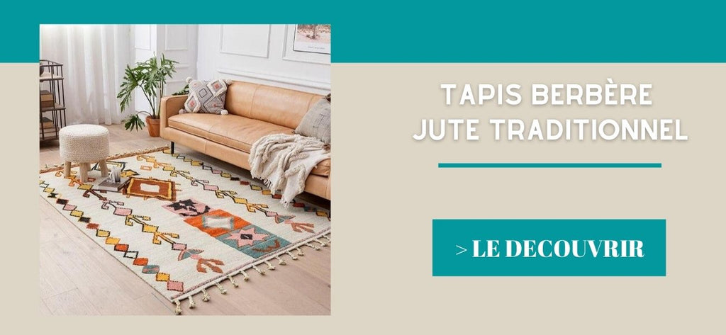 Tapis Berbère Jute Traditionnel
